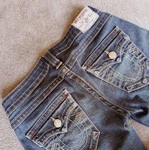 {True Religion} Low Rise Straight Jean